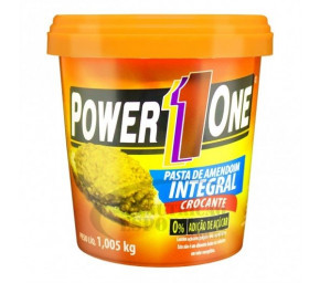 Pasta de Amendoim Integral Crocante 1 Kg - Power1One